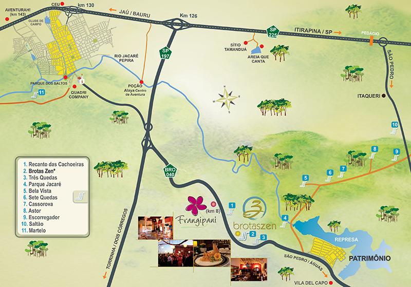 Mapa de Brotas